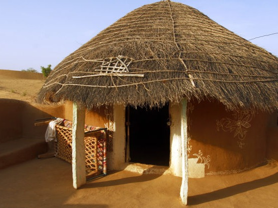 A village hut in the Thar desert